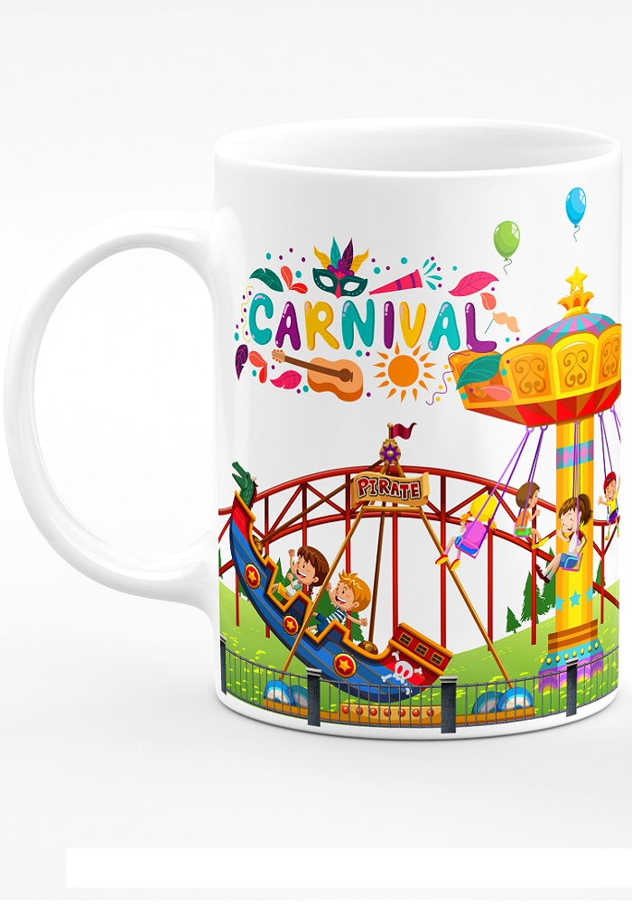 carnival theme coffee mug