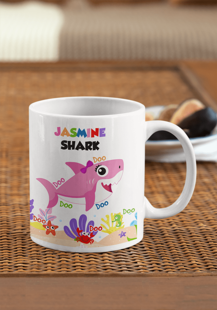 baby sister shark theme coffee mug for shark theme birthday