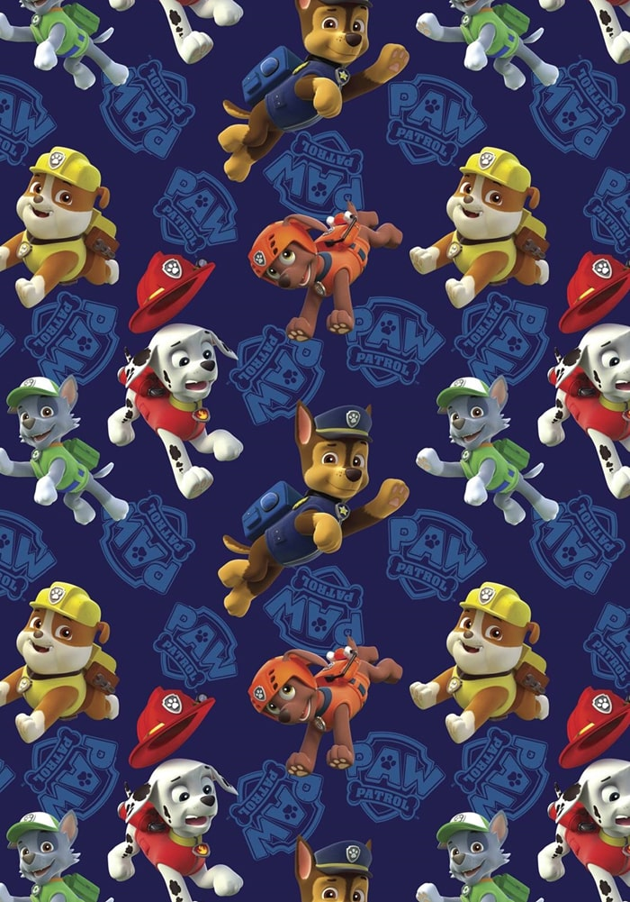paw patrol wrapping paper for gifts