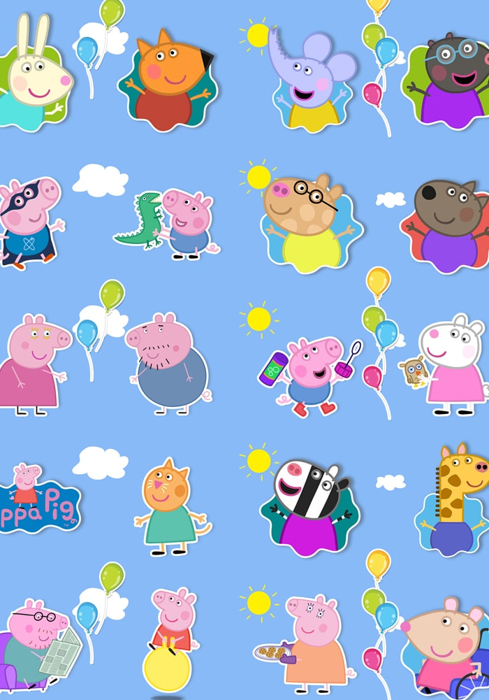 peppa pig theme return gifts wrapping sheets