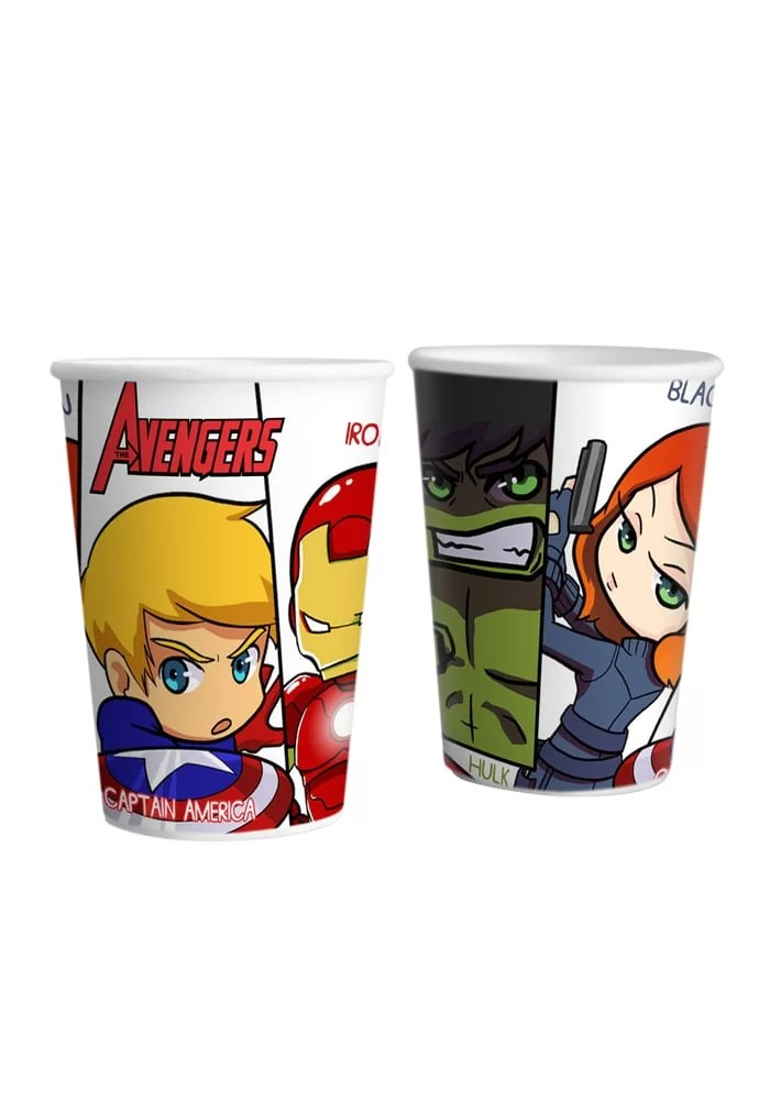 avenger theme party paper cups