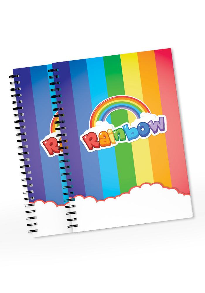rainbow theme diaries for return gifts