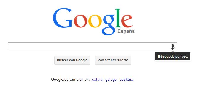 Busqueda por voz Google Chrome