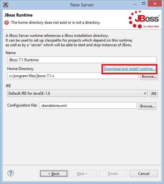 JBoss Download and install runtime...