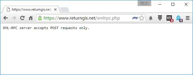 XML-RCP server accepts POST requests only