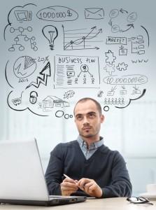 Gente introvertida en los negocios