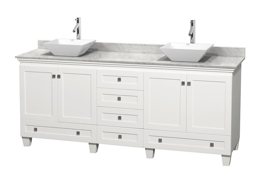 Wyndham Collection Acclaim 80 Inch Double Vanity Sink