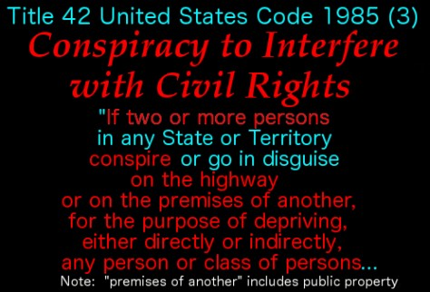 Conspiracy to Interfere w Civil Rights 1