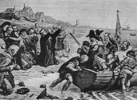 Departure of Pilgrims from Holland