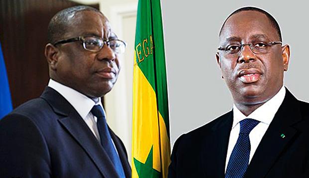 Mankeur Ndiaye, Ministre des Affaires Etrangères du Sénégal et le Président Macky Sall