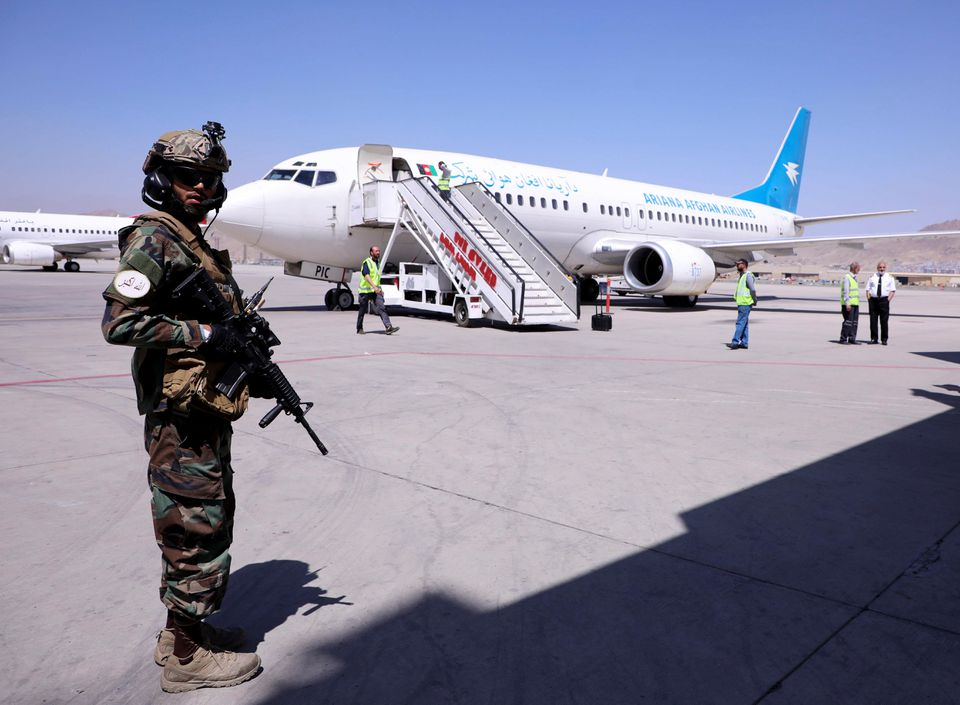 Flight with civilians onboard leaves Kabul, signalling airport is back in action