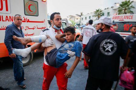 Israeli Aircraft Strikes Hamas Sites in Gaza