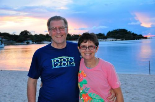 Mom and Dad (Ken & Joanne) Reutter.  Notice the nice new t-shirt!