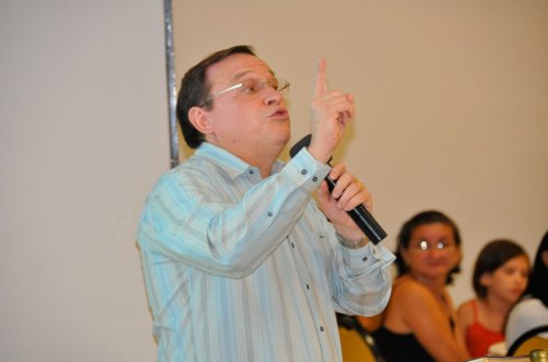 Pastor/Uncle Abe preaches at the Friends of Nehemiah Dinner