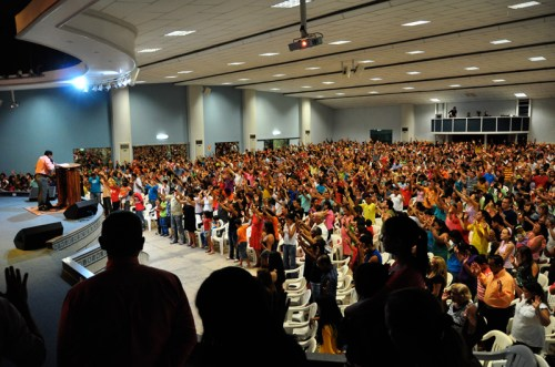 An energized church worships the Lord