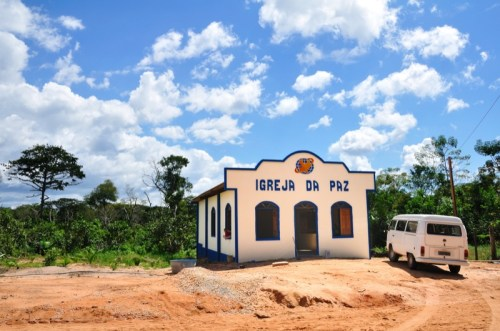 The brand new church in Iruçanga has doubled in size since this building was built just one month ago!  We're here to put the finishing touches on it.