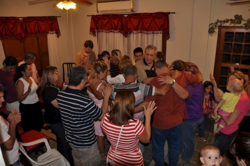 Praying in the new leaders!