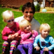 Grandma Reutter with her 3 grandchildren: Sophie (Amy & Aaron's daughter), Rebecca and Anna.