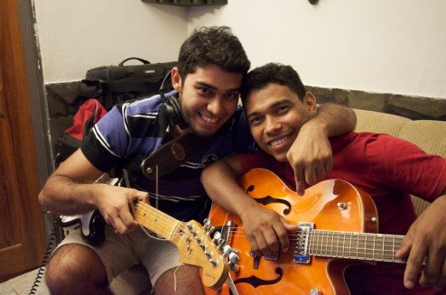 Two of PAZ's great guitarists: Marden and Adson.