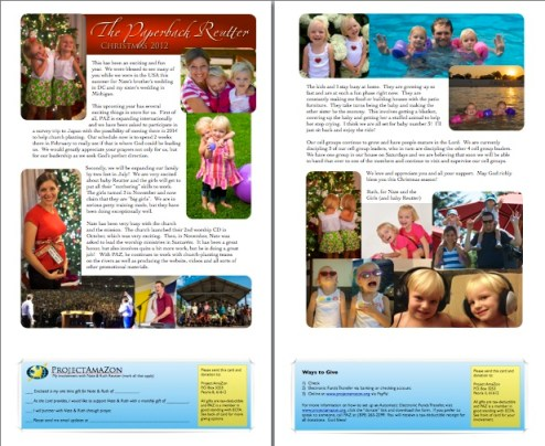 For more on our 2012, click to open our Christmas newsletter