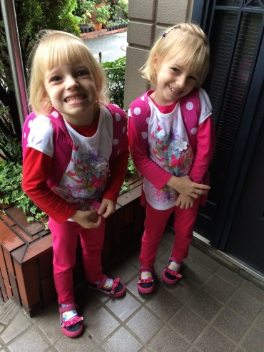 The girls head to their first day of school!