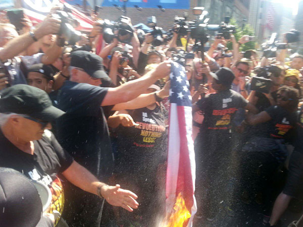 Flag-burning at RNC