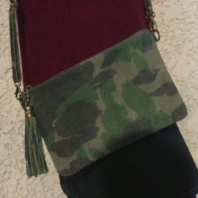 pochette daim camouflage
