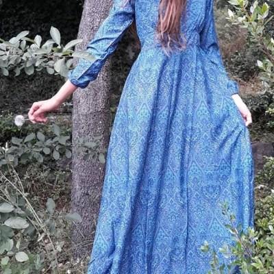 Robe longue manches longues
