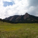 The Flat Irons in the foothills of the Rocky Mountains