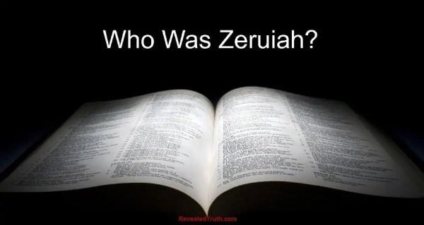 Who was Zeruiah?