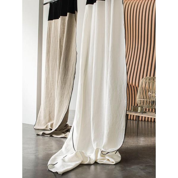 rideaux en lin lave mansa reve blanc