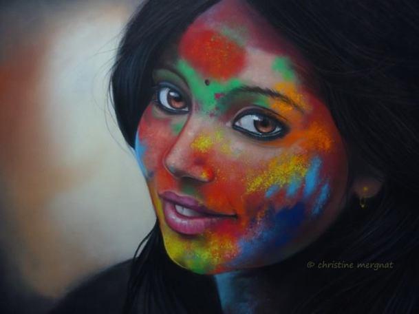 """""""Anusha"""" d'après une photo de Rudra Mandal (DISPO)"""