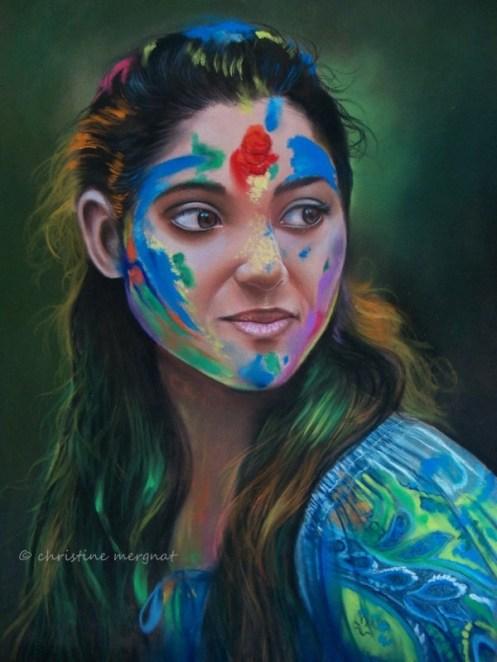 """""""HOLI"""" d'après une photo de Rudra Mandal - DISPO"""