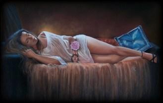 """""""Jet Lagg"""" d'après une photo de Christele Alonso (format 50 X 70 cm) DISPO"""