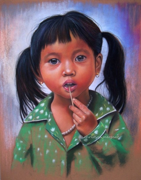 """""""Linh"""" d'après une photo de Claude Rausch - DISPO -"""