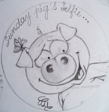 monday pig's selfie