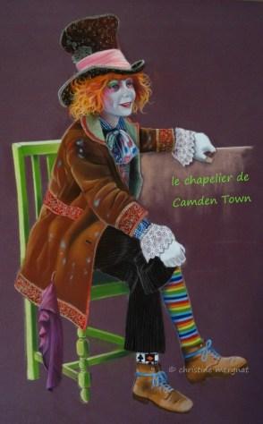 """""""le chapelier de Camden Town"""" format 50 X 70 cm - DISPO"""