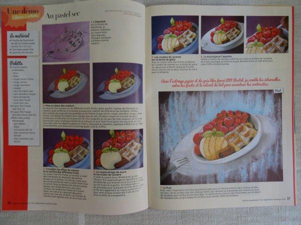 """pas à pas """"dessert glacé"""" dans le n°72 de Plaisirs de Peindre"""