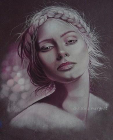 """Suzanna"" pastel format 30 X 40 cm DISPO"