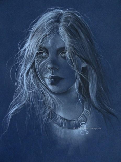 """Anna"" pastel format 30 X 40 cm DISPO"
