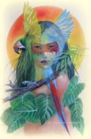 aquarelle et pastel sur pastelmat 50 X 70 cm DISPO