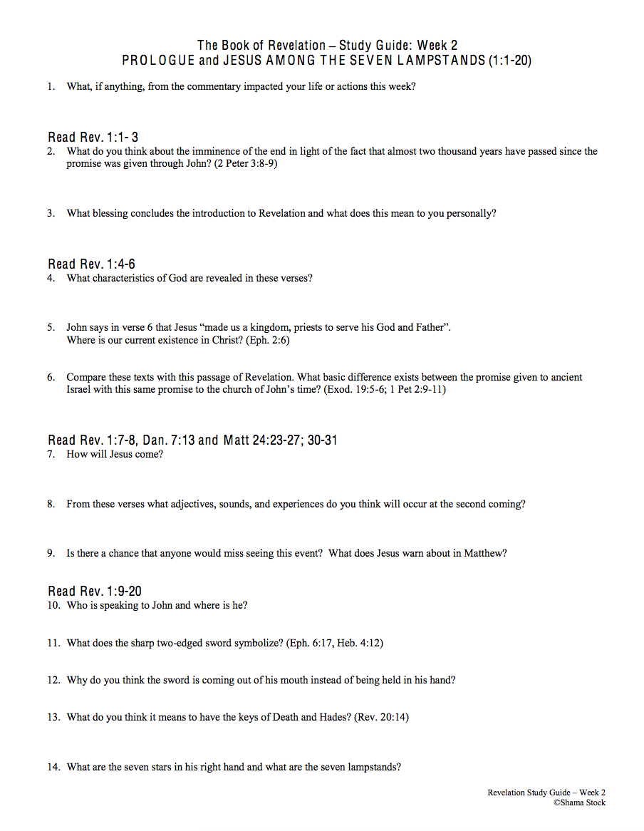 Bible Study Questions on the Book of Revelation: A ...
