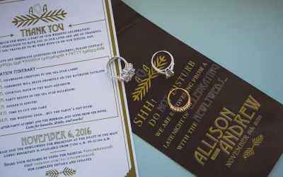What decorations do you need for a wedding reception?