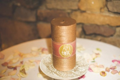 custom memory candle wrap with wedding logo for rememberance, in memory of