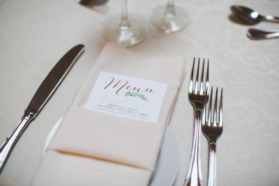custom wedding menus