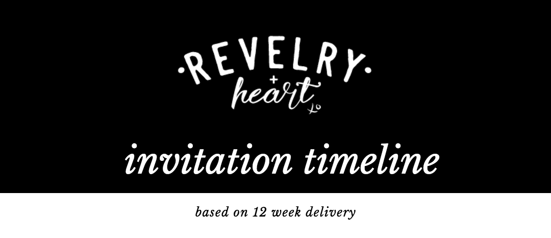 title image for revelry + heart custom invite timeline