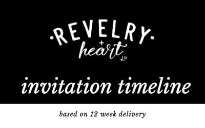 custom invitation timeline