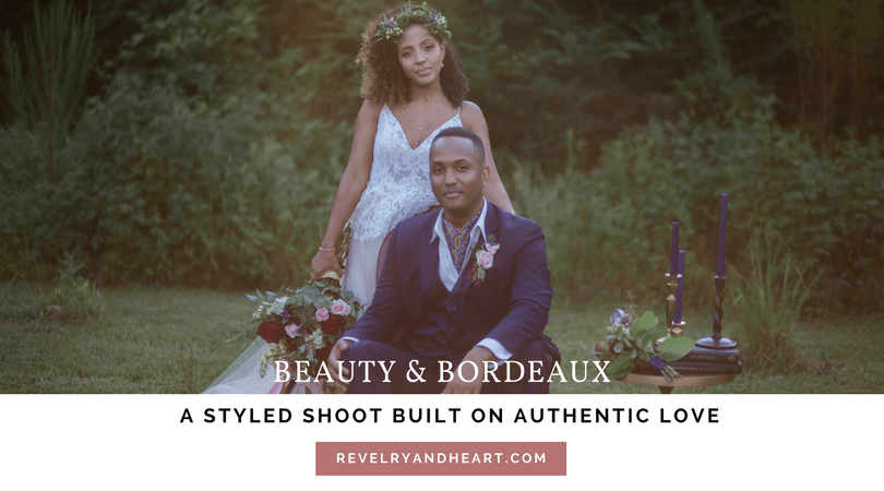 title image for beauty and bordeaux styled shoot in raleigh, nc