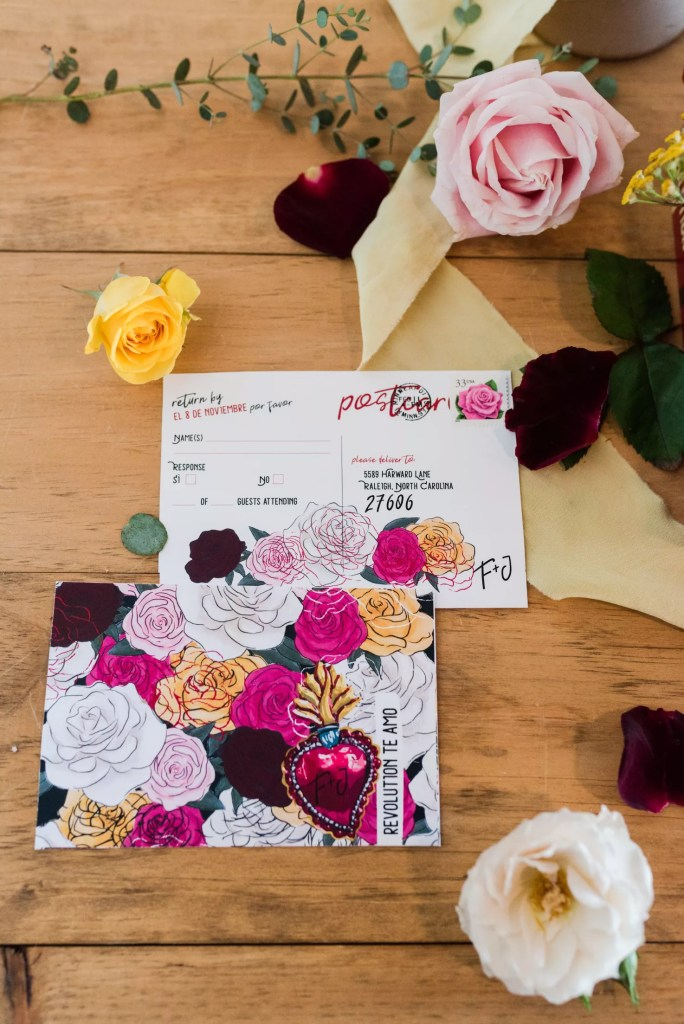 RSVP Postcards, Frida + Joe Designspo by revelry and heart
