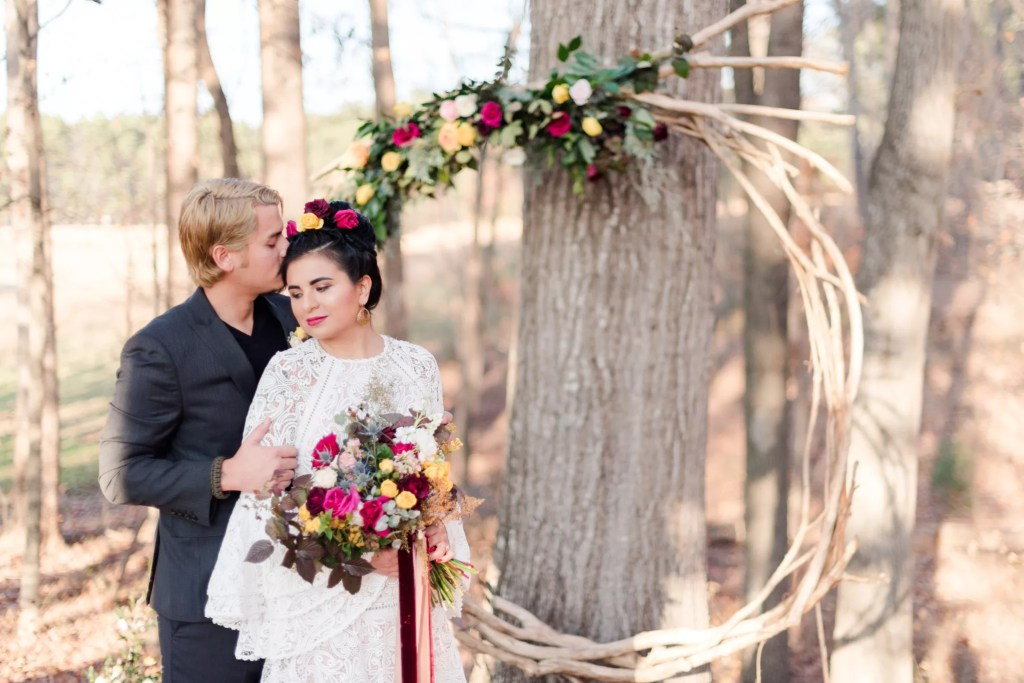 The Meadows at Firefly Farm wooded ceremony space for wedding venue